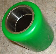 """FORK LIFT POLY TRUCK LOAD WHEEL HUB RUBBER TIRE 7711 GREEN APPROX. 4-1/2"""" X 3"""""""