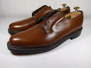 Vintage NOS Vcleat Florsheim Royal Imperial Brown Plain Toe Blucher Size 10.5 C