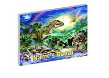 DINOSAURS PERSONALISED WOODEN DOOR PLAQUE