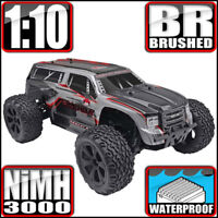 Redcat Racing Blackout XTE 1/10 Scale Electric Monster RC Truck Silver Red Suv