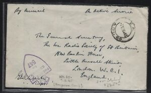 SOMALILAND COVER (P0312B)  1945  OAS  TO  ENGLAND