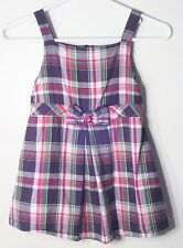 GYMBOREE Size 12 Months Multi-Color Plaids Sleeveless Dress