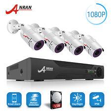 ANRAN 1080P 8CH DVR AHD Home Security Camera CCTV Surveillance IP System 1TB HDD
