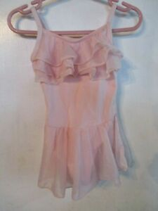 SHIMMING RUFFLED TUTU/BALLET LEOTARD - BY FREESTYLE SIZE XS(4/5)-COTTON BLEND