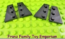 LEGO Wedge PLATES Black 3x2 x4 (Pair of Left and Right) Wing