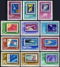 Hungary C236-C247 blocks/4,MNH.Mi 1907-1918. 1962.stamp on stamp:Rocket stamps