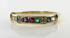 9K 9CT YELLOW GOLD DEAREST  ETERNITY BAND ART DECO INS RING  FREE RESIZE