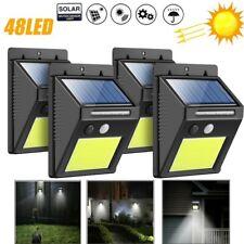 48 LED Solarlampe Solarleuchte Außenlampe Bewegungsmelder Strahler Gartenlicht