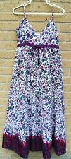 Miso Long Maxi Dress Size 12 Empress Line Strappy Floral Hippie Boho Festivals