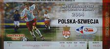 TICKET 10.9.2003 Polska Polen vs. Sweden Schweden