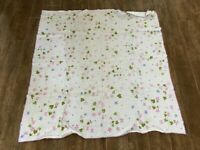 "Vintage Tablecloth 48"" square dining floral white pink blue star mid century MCM"