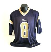 Mens Jersey Sam Bradford St. Louis Rams #8 Blue NFL Equipment Football XL Mesh
