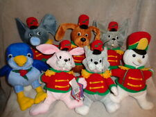 Christmas Snowden Marching Band 1999 set 7 plush beanbag friends cat dog snowman