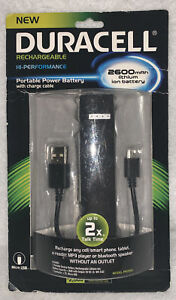 Duracell Portable Rechargable 2600mAH Lithium Ion Battery