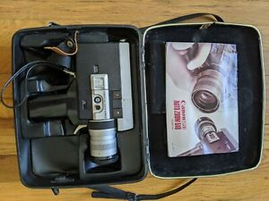 TESTED! Working Canon Auto Zoom 518 Super 8 Vintage Film Camera with Case