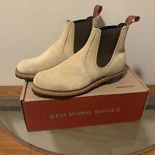 RARE Red Wing Shoes 2919 Beckman Chelsea Boots Tan Abeilene Men's Size 8D