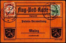 Gelber Hund Pioneer Flight Darmstadt Mainz Jun 19 1912 1M Semipostal 250 EUR Cat