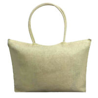 Fashion Women Simple Casual Candy Color Large Straw Beach Bags Shoulder Bag