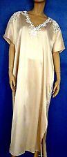 Marjolaine Babydoll Dress Long 100% Silk & Guipure 5XL/FR52/EU50 Sand 'Glycine'
