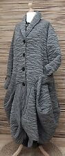 LAGENLOOK*MB GERMANY*WOOL MIX BEAUTIFUL BALLOON 2 POCKETS COAT**GREY**SIZE 48-50