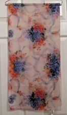 TERRIART Floral with White Background 60x14 Long Scarf-Vintage