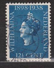 NVPH Netherlands Nederland 312 TOP CANCEL AMSTERDAM Wilhelmina 1938