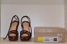 Christian Louboutin 40 Passiflore 140 In Box Cheetah Patent/Calf Retail $1095