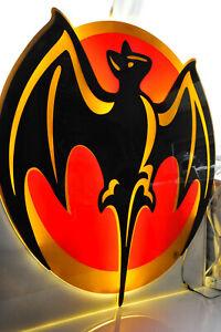 "Bacardi Rum, XXXL 100 cm LED Leuchtreklame, Leuchtwerbung, ""Fledermaus"""