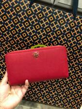 TORY BURCH Emerson Continental Wallet in Red w/ gift receipt