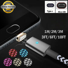 1/2/3M USB-C Type C/Micro USB Magnetic Charger Cable For Samsung Note 8 S8 S7