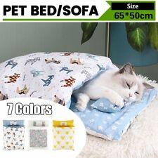 Removable Dog Cat Bed Cat Sleeping Bag Sofas Mat Winter Warm Pet Nest Cushion