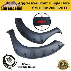 Front Jungle Flares Fender Wheel arch fit Toyota Hilux 2005-2011 Black Aggressiv