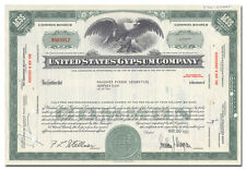 United States Gypsum Stock Certificate (Sheetrock)