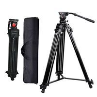 Professional Heavy Duty DV Video Camera Tripod w/ Fluid Pan Head Kit 72inch