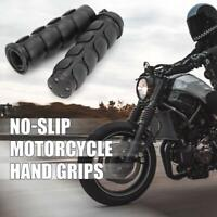 """Rubber 1"""" Motorcycle Handlebar Hand Grips For Harley Touring King Softail Custom"""