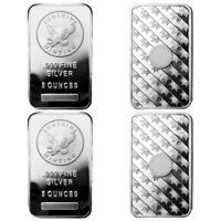5 oz Sunshine Silver Bar (New, MintMark SI, Lot of 4)