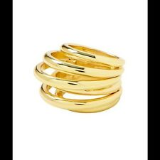 Banana Republic Infinity Bubble Ring Size 5 - Gold NIP $45