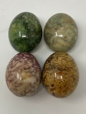 LOT OF FOUR STONE EGGS