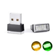 Mini USB LED Light Car Interior Light Neon Atmosphere Ambient Lamp Green/Orange