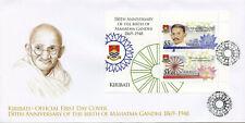 Kiribati 2019 FDC Mahatma Gandhi 2v M/S Famous People Historical Figures Stamps