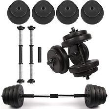 15 Kg Dumbbell Set Dumbbells Weights Fitness Exercise Home Gym Sets 2 X Barbells