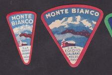 Ancienne petite étiquette de fromage Italie  BN23924 Galbani Mont Blanc