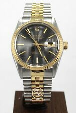 Rolex Datejust 16013 Jubilee 36mm 18K Yellow Gold /SS Rare Dial *MINT NO RESERVE