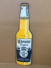 corona beer bottle metal sign