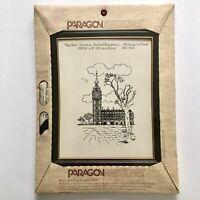 Paragon Needlecraft London UK BIG BEN Stamped Stitchery Needlework Etching Kit