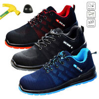Mens Work Safety Shoes Steel Toe Boots Indestructible Bulletproof Racer Sneakers