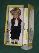 "Engel Doll Puppen 19"" Boy Doll-Blonde Kanekalon Hair-Blue Eyes-Bavarian Inn-EC"