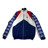 Vintage Kappa Mens Italy Sz XL  Tape Logo Track Jacket Full Zip Red White Blue