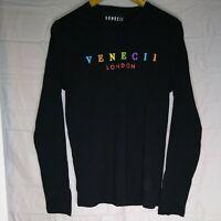 Venecii London Men's Long sleeve t shirt in Small Black for Next