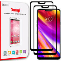 2X Dooqi Full Cover Tempered Glass Screen Protector Saver Shield For LG G7 ThinQ